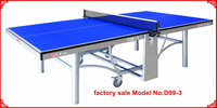 high end quality D99-3 double folding table tennis table/table tennis equipment