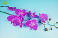 For decorative wedding flower holder with big silk orchid to decoration