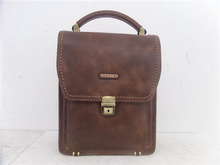 2014 real Leather men briefcase with lock China manufacturer Guangzhou Factory