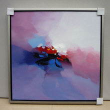 Meaningful framed paintings abstract of title for public area
