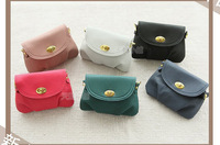 13356 New Fashion 2014 Casual Woman Vintage Bag Candy Color Dumpling Pattern Small Handbag