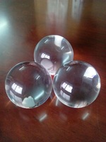 glass balls transparent, large decorative glass balls