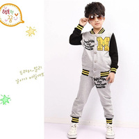 HFR-R-534 Children clothing boys baseball uniform twinset clothing