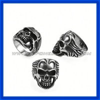 2014 the latest gothic stainless steel spikes stainless steel ring China Factory