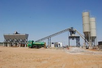 new condition electric power type concrete batching plant