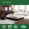 alibaba hot sale wood double bed designs with box DS-7217#
