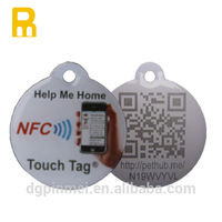 Plastic id pet tag with unique number