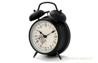 Retro Twin Bell Alarm Desk Clock for sale with Light function new products wholesale factory