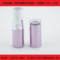 Aluminum lipstick case with transparent top