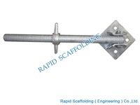 High quality Types of Ringlock system scaffolding Swivel base jack