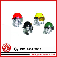 fire safety helmet with chin strap