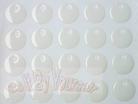 1 inch epoxy stickers with 4MM Hole - High Quality epoxy domes - Epoxy dots for bottle caps