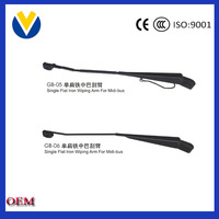 factory wholesales single flat iron wiper arm automobile parts