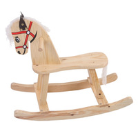 New product 2014 hot design children chair wooden rocking horse