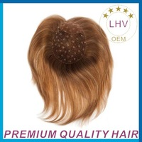 custom hair colors and base size base material top piece for lady integration hair piece