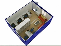 movable 20ft container office fashion cheap container home