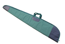 High quality canvas and top grian leather soft gun case