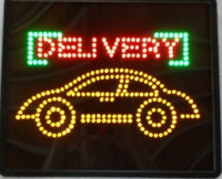 Hot products Car Delivery led letter sign