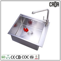 Bottom price metal 590X450X200mm Single Bowl Under mounted pedestal wash sink eco pedestal basin