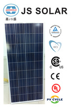 130W 12V poly solar panel factory in China