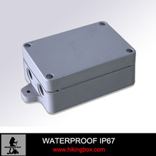 2014 Newest sealed light grey small hard hinged waterproof electrical junction box with ear