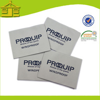 Low price custom Low Price Quality brand name non woven labels for clothing