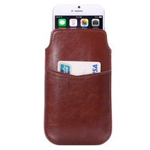 Crazy Horse Texture Leather Case Pocket Pouch Sleeve Bag with Pull Up Tab & Card Slot for iPhone 6