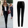 Super! Lady Zip Pencil Pants Women High Waisted Slim Stretch Leggings Trousers Free Shipping&Wholesale Alipower Alipower