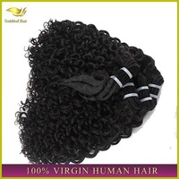Fast delivery high quality 24 inch brazilian remy curly human hair extensions
