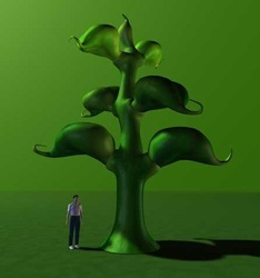 Newly giant inflatable plants /stage decoration /inflatable tree