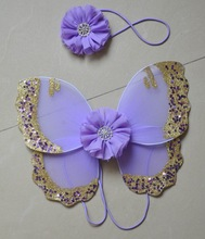 Fairy lovely baby headband and back wings,lavender small baby headpiece,hair accessories