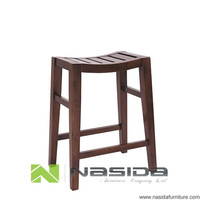 CH295 Concave Wooden Saddle Bar Stool