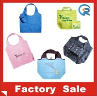promotional 100% polyester drawstring bag/wholesale fold bag /eco foldable bags