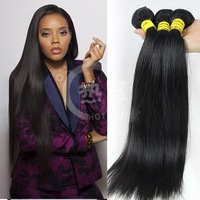 can be dyed cheap 100% virgin raw brazilian hair weave 3bundles mix length 14inch 16inch18inch