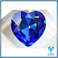 Wholesale Synthetic Loose Heart Cut Blue Sapphire Stone