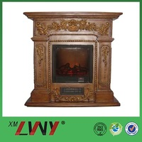High grade safe relief texture decoration indoor fireplace electric
