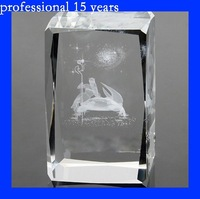 3D laser engraving crystal cube,crystal Horoscope gift
