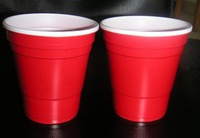 16oz disposable red plastic cup with high quality,american red cup with ball