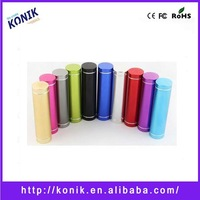 lipstick emergency mobile phone charger Portable mini power bank 2600 mah emergency mobile phone charger