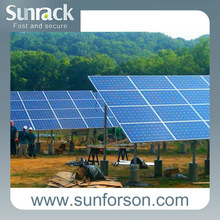 30kw solar panel ground mounting system, SFS-P-X pole mount