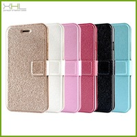 Silk leather flip stand cover case for iphone 6 4.7'',for iphone 6 4.7 inch case