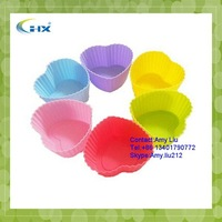 G-2015 Wholesale Kitchen Set of 12 Coloured Silicone Cupcake / Muffin Cases 2.8""