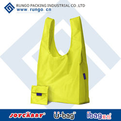 Promotional fold-away carry all tote bags