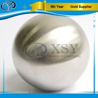 Brushed Stainless Steel Hollow Ball with hole
