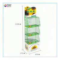 Chinese Manufacture Metal Floor Standing Display for POS