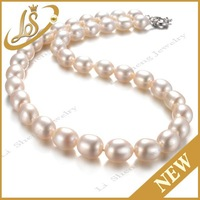 Wholesale AAA grade white freshwater pearl necklace