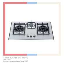 Gas burners for cooking butane gas burner Stainless steel top 3 burner gas stove for kitchen cooktop 8537