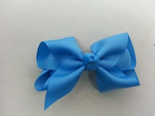 hair accessories baby girls headband ribbon bow WITH clip baby hair wrap ribbon bow making machine