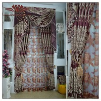 Woven Technics curtains , Full House Curtain ,Jacquard Pattern double layer curtain