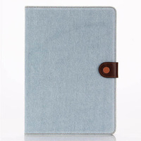 FASHION Jeans PU leather card slots cases for ipad air 2,for ipad 6 case covers